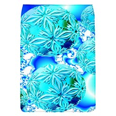 Blue Ice Crystals, Abstract Aqua Azure Cyan Removable Flap Cover (Small)