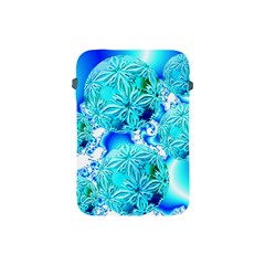 Blue Ice Crystals, Abstract Aqua Azure Cyan Apple iPad Mini Protective Soft Case