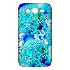 Blue Ice Crystals, Abstract Aqua Azure Cyan Samsung Galaxy Mega 5.8 I9152 Hardshell Case