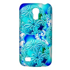 Blue Ice Crystals, Abstract Aqua Azure Cyan Samsung Galaxy S4 Mini (GT-I9190) Hardshell Case