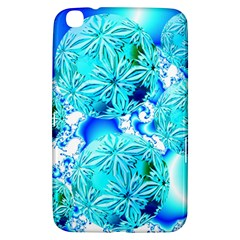 Blue Ice Crystals, Abstract Aqua Azure Cyan Samsung Galaxy Tab 3 (8 ) T3100 Hardshell Case