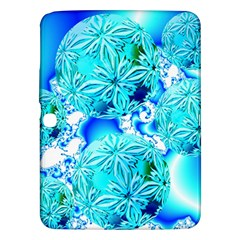 Blue Ice Crystals, Abstract Aqua Azure Cyan Samsung Galaxy Tab 3 (10 1 ) P5200 Hardshell Case
