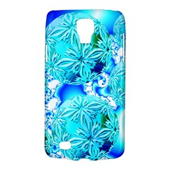 Blue Ice Crystals, Abstract Aqua Azure Cyan Samsung Galaxy S4 Active (i9295) Hardshell Case