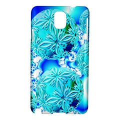 Blue Ice Crystals, Abstract Aqua Azure Cyan Samsung Galaxy Note 3 N9005 Hardshell Case