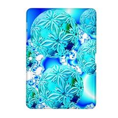 Blue Ice Crystals, Abstract Aqua Azure Cyan Samsung Galaxy Tab 2 (10 1 ) P5100 Hardshell Case