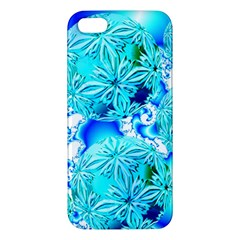 Blue Ice Crystals, Abstract Aqua Azure Cyan iPhone 5S Premium Hardshell Case