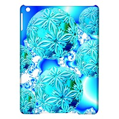 Blue Ice Crystals, Abstract Aqua Azure Cyan Apple iPad Air Hardshell Case