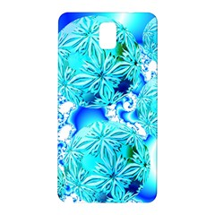 Blue Ice Crystals, Abstract Aqua Azure Cyan Samsung Galaxy Note 3 N9005 Hardshell Back Case