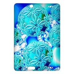 Blue Ice Crystals, Abstract Aqua Azure Cyan Kindle Fire HD 7  (2nd Gen) Hardshell Case