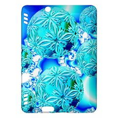 Blue Ice Crystals, Abstract Aqua Azure Cyan Kindle Fire Hdx 7  Hardshell Case