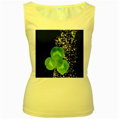 Clover Women s Tank Top (Yellow)