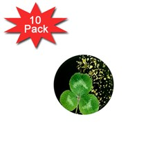 Clover 1  Mini Button Magnet (10 Pack)