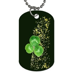 Clover Dog Tag (two Sided)