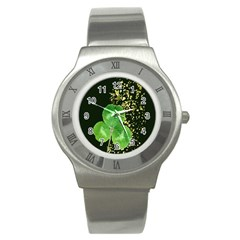 Clover Stainless Steel Watch (Slim)