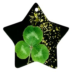 Clover Star Ornament (Two Sides)