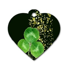 Clover Dog Tag Heart (One Sided)
