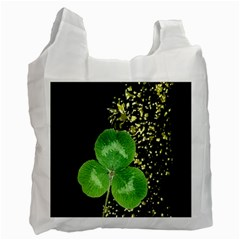 Clover White Reusable Bag (Two Sides)
