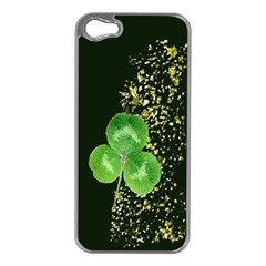 Clover Apple iPhone 5 Case (Silver)