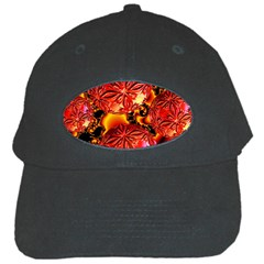 Flame Delights, Abstract Red Orange Black Baseball Cap