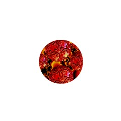 Flame Delights, Abstract Red Orange 1  Mini Button