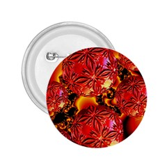 Flame Delights, Abstract Red Orange 2 25  Button