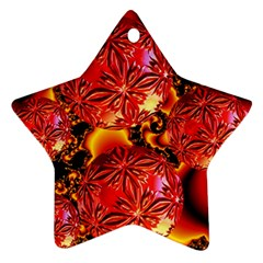 Flame Delights, Abstract Red Orange Star Ornament