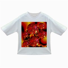 Flame Delights, Abstract Red Orange Baby T Shirt