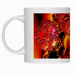 Flame Delights, Abstract Red Orange White Coffee Mug