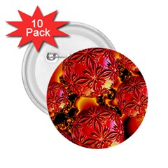 Flame Delights, Abstract Red Orange 2.25  Button (10 pack)