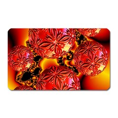 Flame Delights, Abstract Red Orange Magnet (Rectangular)