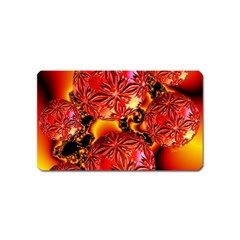 Flame Delights, Abstract Red Orange Magnet (Name Card)