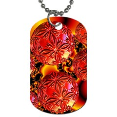 Flame Delights, Abstract Red Orange Dog Tag (one Sided)