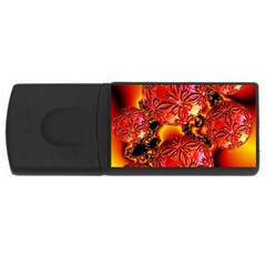 Flame Delights, Abstract Red Orange 1GB USB Flash Drive (Rectangle)
