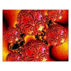 Flame Delights, Abstract Red Orange Jigsaw Puzzle (rectangle)
