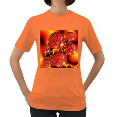 Flame Delights, Abstract Red Orange Women s T-shirt (Colored)