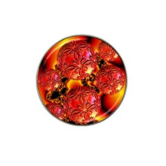 Flame Delights, Abstract Red Orange Golf Ball Marker 4 Pack (for Hat Clip)