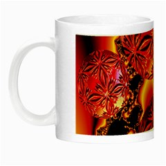 Flame Delights, Abstract Red Orange Glow in the Dark Mug