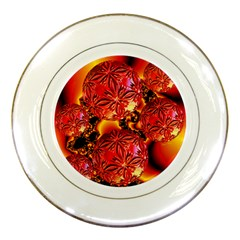 Flame Delights, Abstract Red Orange Porcelain Display Plate