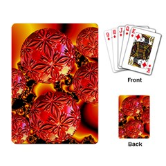 Flame Delights, Abstract Red Orange Playing Cards Single Design