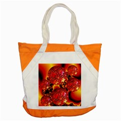 Flame Delights, Abstract Red Orange Accent Tote Bag