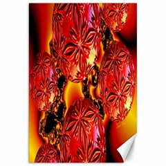 Flame Delights, Abstract Red Orange Canvas 20  x 30  (Unframed)