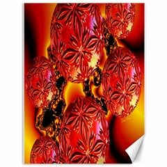 Flame Delights, Abstract Red Orange Canvas 36  x 48  (Unframed)