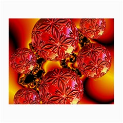 Flame Delights, Abstract Red Orange Glasses Cloth (Small, Two Sided)