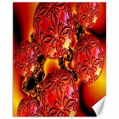 Flame Delights, Abstract Red Orange Canvas 11  X 14  (unframed)