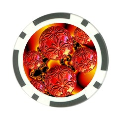 Flame Delights, Abstract Red Orange Poker Chip