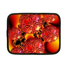 Flame Delights, Abstract Red Orange Netbook Sleeve (small)