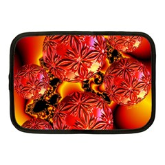 Flame Delights, Abstract Red Orange Netbook Sleeve (Medium)