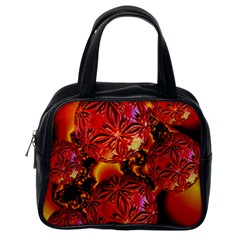 Flame Delights, Abstract Red Orange Classic Handbag (one Side)