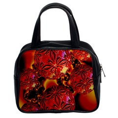 Flame Delights, Abstract Red Orange Classic Handbag (two Sides)