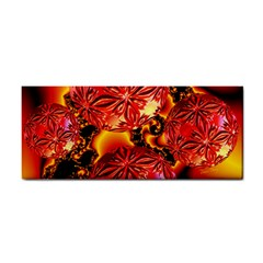 Flame Delights, Abstract Red Orange Hand Towel